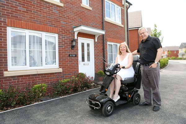 Catherine and Richard Lee enjoying their new Bovis Home
