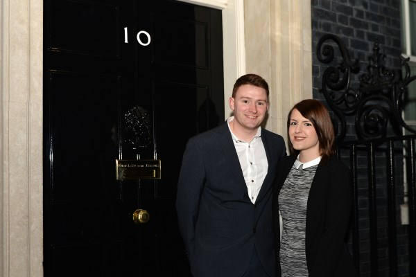 Amy and Dan at 10 Downing Street