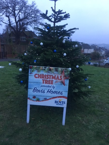 Image for Bovis Homes tree provides festive cheer as Apsley residents gather for Christmas carols