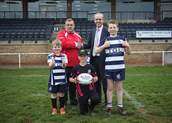 Image for Budding rugby stars at Banbury festival boosted by housebuilder sponsorship