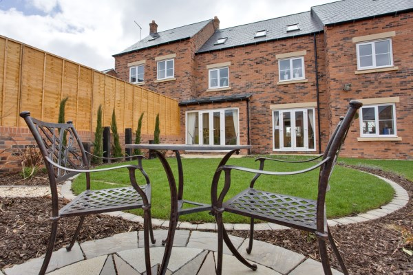 The garden of the show home at Uplands Mill, Biddulph