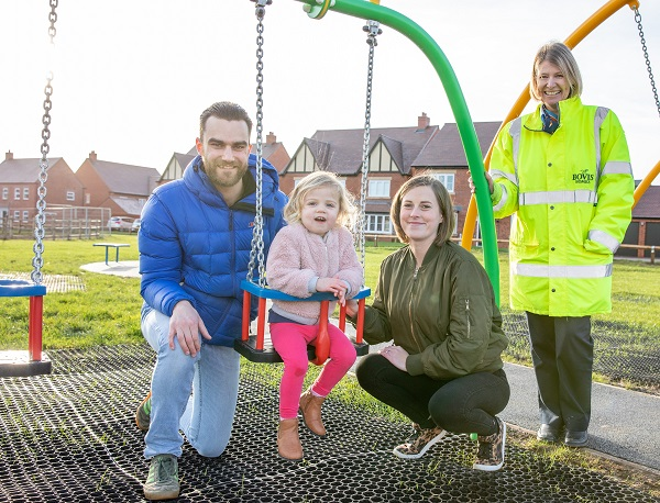 Image for Dad says Bidford-on-Avon play area is perfect Christmas gift for two-year-old Lana