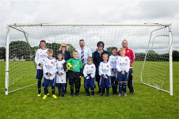 Image for New kit for Barnstaple Ability Counts FC thanks to boost from housebuilder