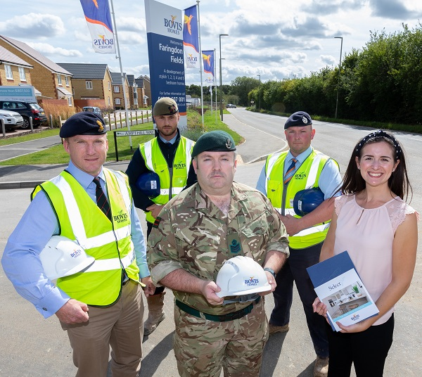 Image for National housebuilder first to gain MOD Gold award for backing military personnel
