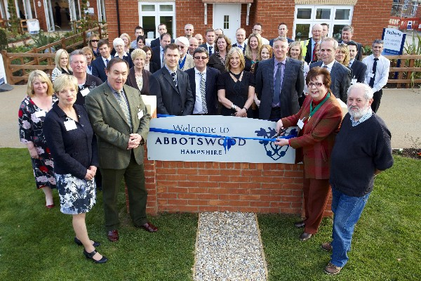 Local community representatives met at the opening of Romsey New Home development