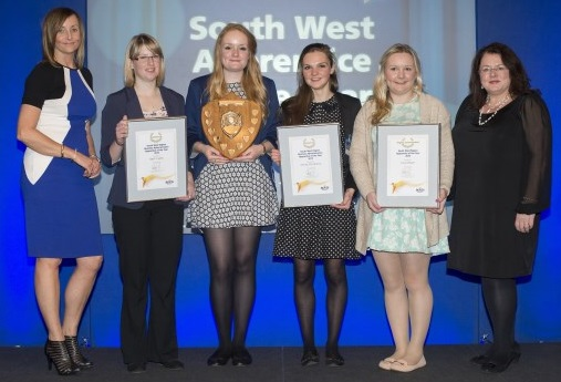 Bovis Homes apprentices at awards ceremony