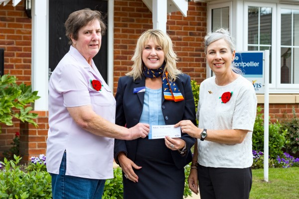 Charity receives donation from Bovis Homes