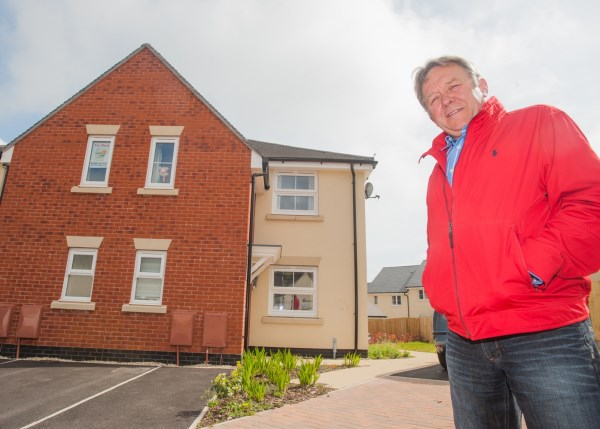 Chris Wyatt already has a tenant in his new home at Nickleby Place in Dawlish
