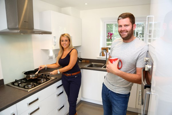 Natashia and Fraser enjoying their new Bovis Home
