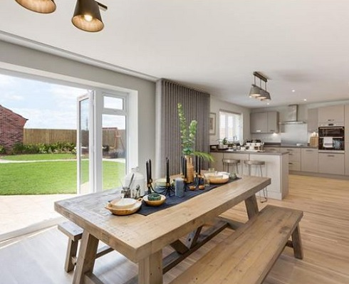 Image for Eating indoors - 7 great Bovis Homes kitchen/diners for long, social nights