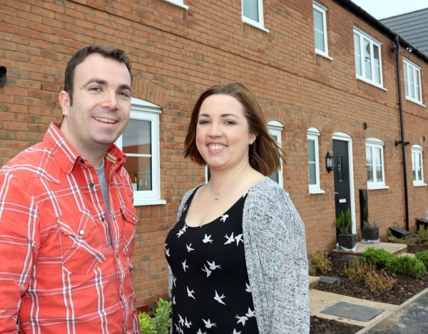 Bennett Williams and Laura Johnson and their new home at Crown Park