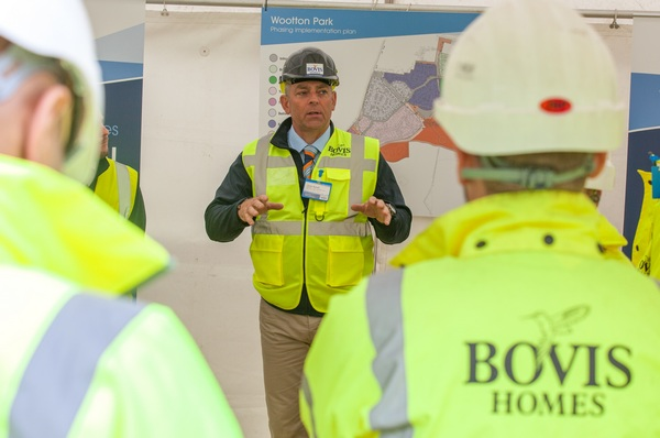 Image for Bovis Homes site manager Dale celebrates major award for house builder excellence