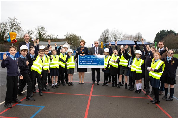 Image for Delighted Drakes Broughton pupils name housebuilder's brand-new location