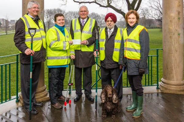 Castle Fields Community Group recieving cheque