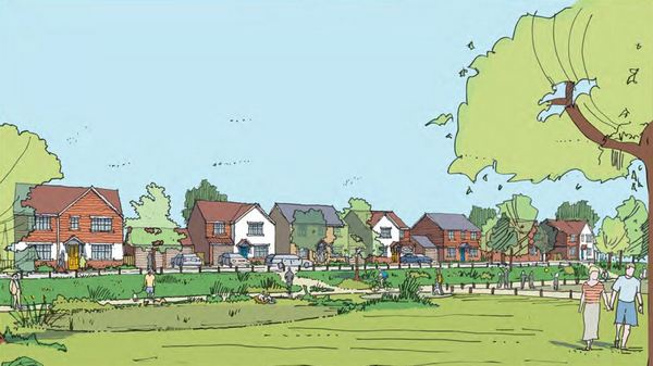 Artist's impression of the new community at Gravesend