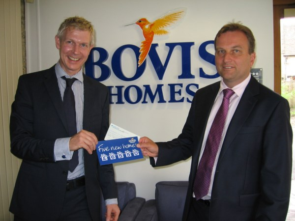 Bovis Homes' dontation to Habitat for Humanity