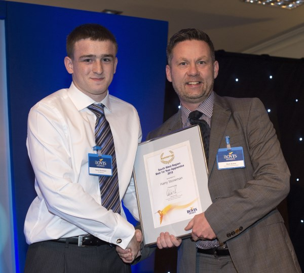 Apprentice runner up Harry with Regional Build Director Mark Sexton