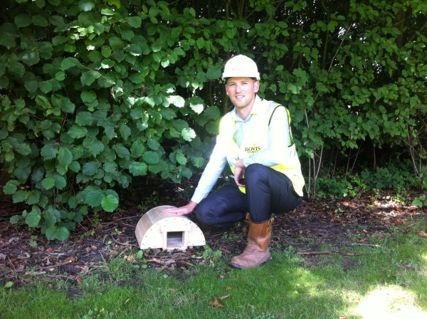 Bovis Homes helping hedgehogs at Church Meadows