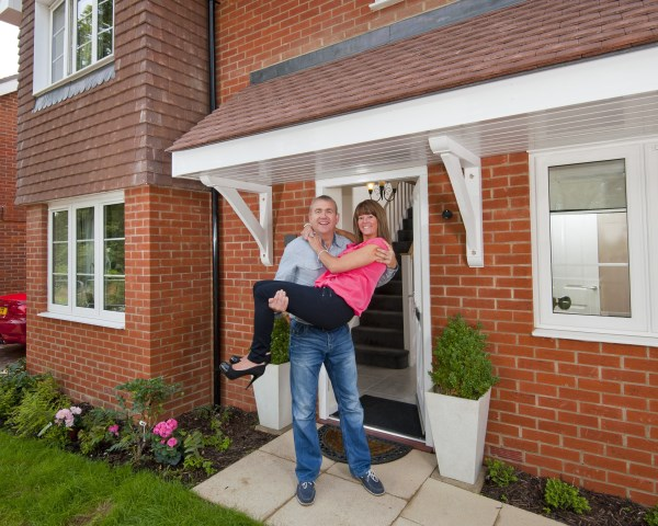 Garry and Elaine Malone moving into their brand new Bovis Home