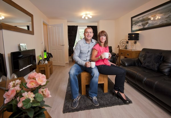 Newlyweds happy in their new home at Knights Mount in North Baddesley
