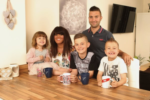 The Stevenson family enjoying their new home at Byron's Wood