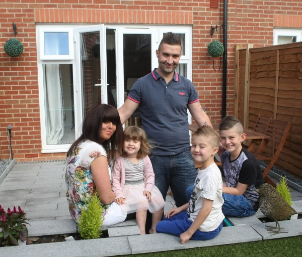 The Stevenson family used Help to Buy to purchase their new Bovis Home
