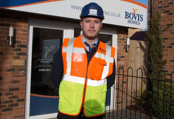 Image for Rising site manager star Jack celebrates major award for house builder excellence