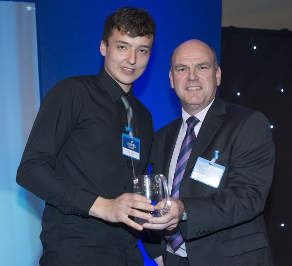 Apprentice winner Jake with Regional Managing Director David Farley