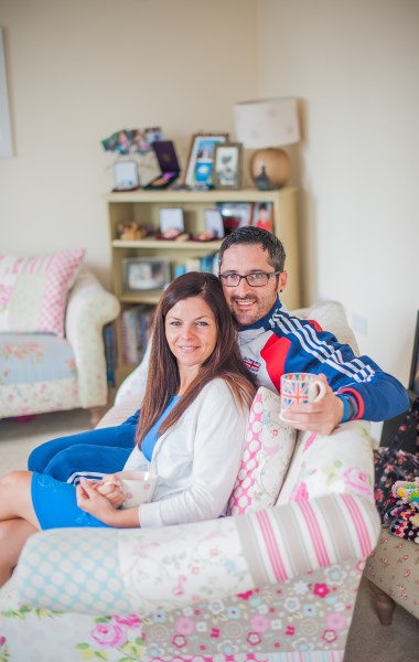 James and Sarah happy in their new Bovis Home