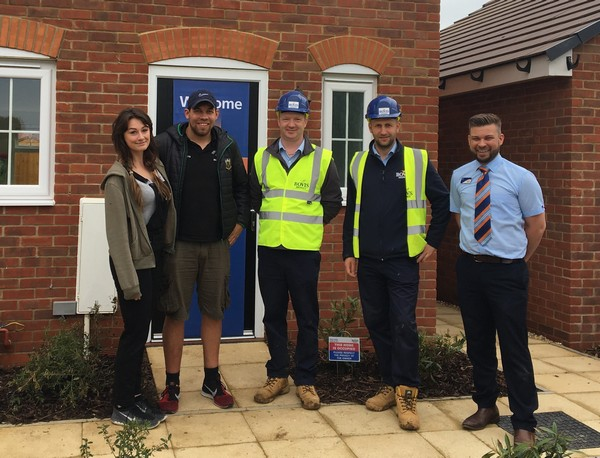 flitwick site manager jamie celebrates major award for house builder