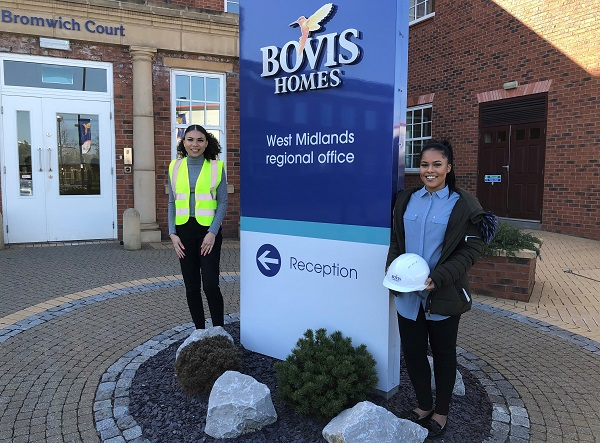 Image for Apprentices Jasmin and Lillie strive to cement a career at national housebuilder