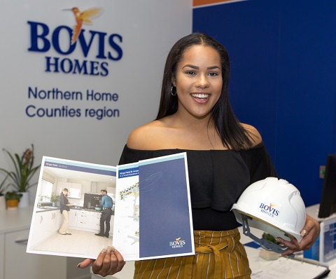 Image for Lillie, 18, ready to make her mark in the house-building business
