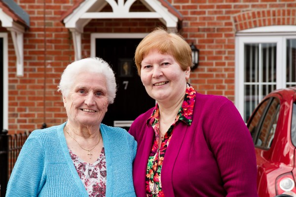 Lisa and Mary enjoying their new Bovis Home at The Avenues