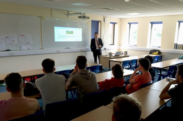 Students at Bishop ~Heber High School in Malpas learn about the building industry