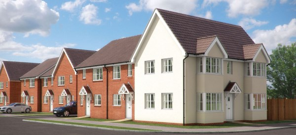 New homes at Meridian End in Peacehaven