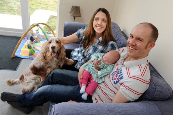 Image for It's a big moving day as Felpham couple celebrate new home and new arrival!