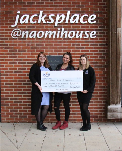 Naomi House & Jacksplace donation