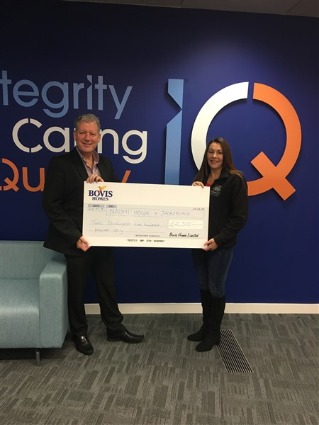 Sales director, Mark Docherty with corporate fundraiser Jill McDonagh