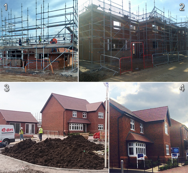 Showhome progress at Malbank Waters in Nantwich