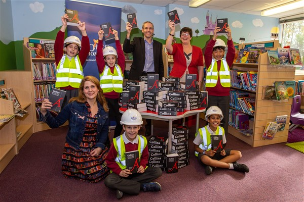 Image for Easy as ABC for Rugby primary school thanks to builder and book shop partnership
