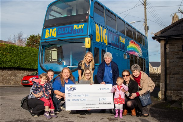 Image for The wheels on the bus still go round and round in Paulton thanks to £1,000 from housebuilder