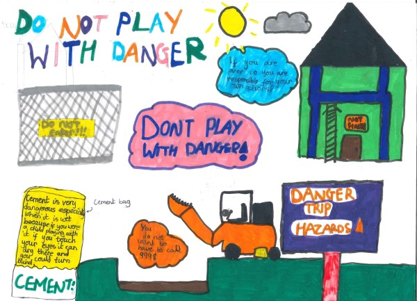 Winning Health and Safety poster by Rebecca Constable