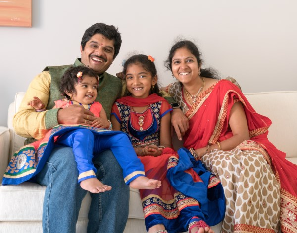 Ravi Chundi and family
