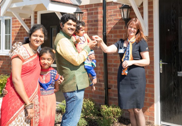 First family to move into new part of Worthing
