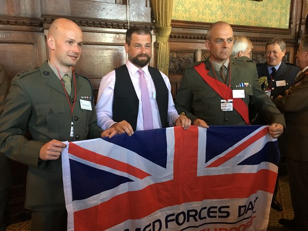 Image for Housebuilding Royal Marine praises employer's support at House of Commons event