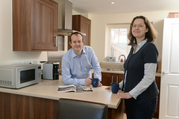 Simon and Fredericke enjoying their new Bovis Home in Romsey