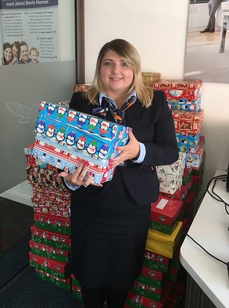 Image for Home builder helps to spread Christmas cheer by collecting special shoe boxes