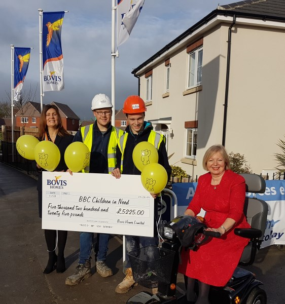 Image for Bovis Homes customers raise funds for Children in Need