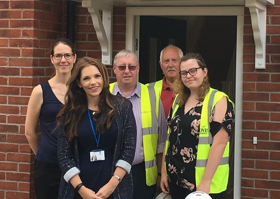 Image for Housing partnership paying off as new affordable homes are delivered in Eccleshall