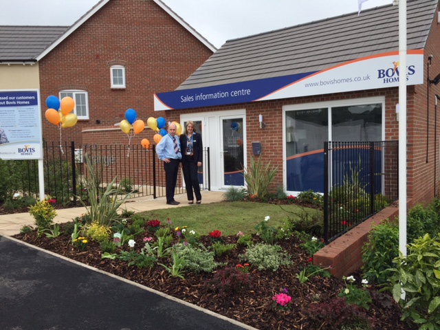 Show home opening in Eccleshall